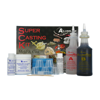 Super Casting Kit mold making rubber, rubber silicones, molds, molding, tin base silicone mold, quickset, mold making, silicone mold making, tin base silicone, piece molds, 3 silicone mold, casting, pressure casting, spin casting, molding, high temperature resistant mold